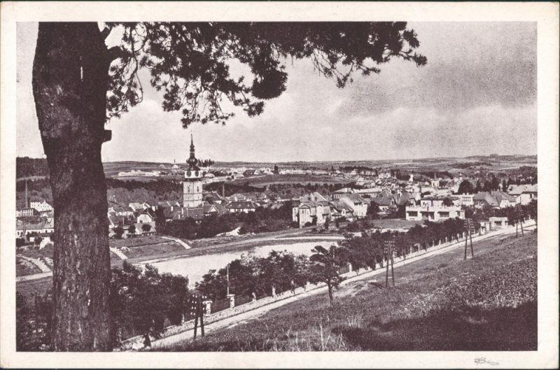 Postcard Trebitsch Třebíč Panorama-Ansicht Gesamtansicht 1950