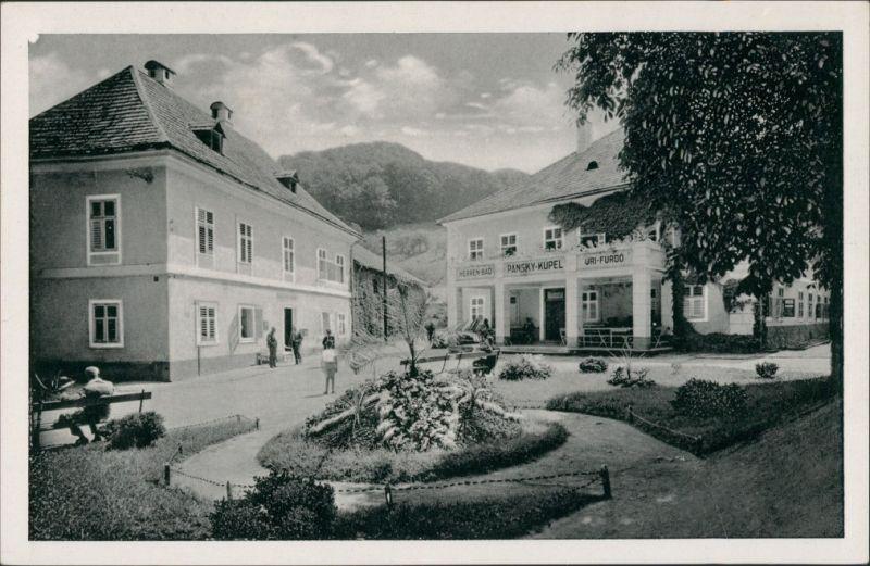 Teplitz-Schönau Teplice Bad Sklenné Teplice/Teilansicht aus der Innenstadt 1950