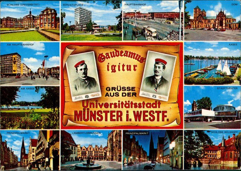 Ansichtskarte Münster (Westfalen) Universitätsstadt, Gaudeamus igitur 1985