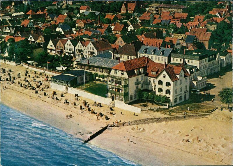 Ansichtskarte Wyk (Föhr) Luftbild Strandhotel 1985