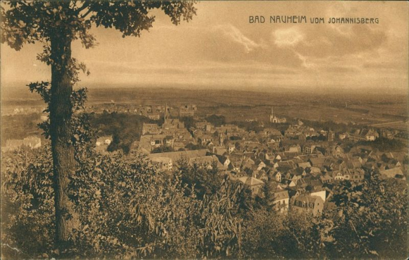 Ansichtskarte Bad Nauheim vom Johannisberg 1915