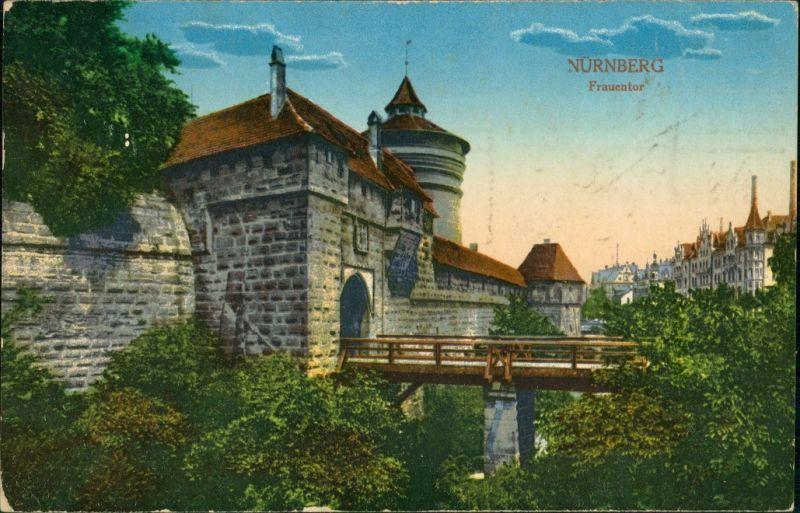 Ansichtskarte Nürnberg Frauentor 1912
