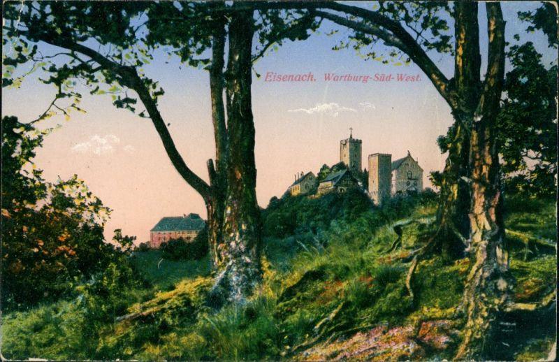 Ansichtskarte Eisenach Wartburg, Südwest 1912