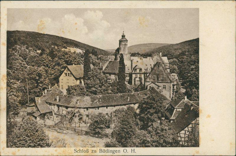 Ansichtskarte Büdingen Schloss 1934