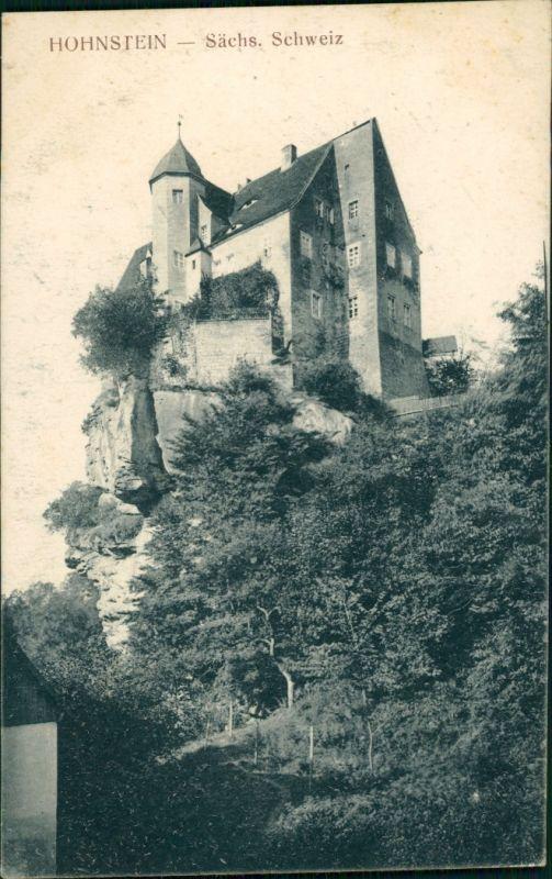 Ansichtskarte Hohnstein (Sächs. Schweiz) Burg und Burgberg 1921