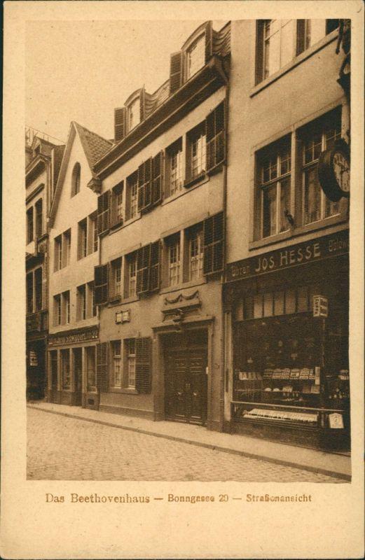 Ansichtskarte Bonn Beethovenhaus - Bonngasse 1922