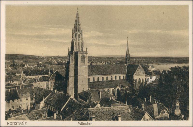 Ansichtskarte Konstanz Münster, Stadt 1928