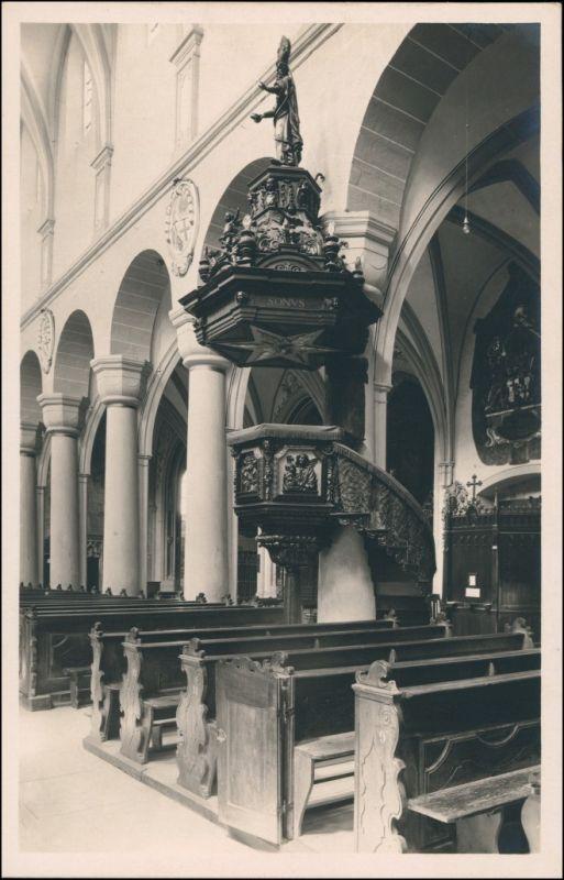 Ansichtskarte Konstanz Innenansicht - Münster, Kanzel 1928