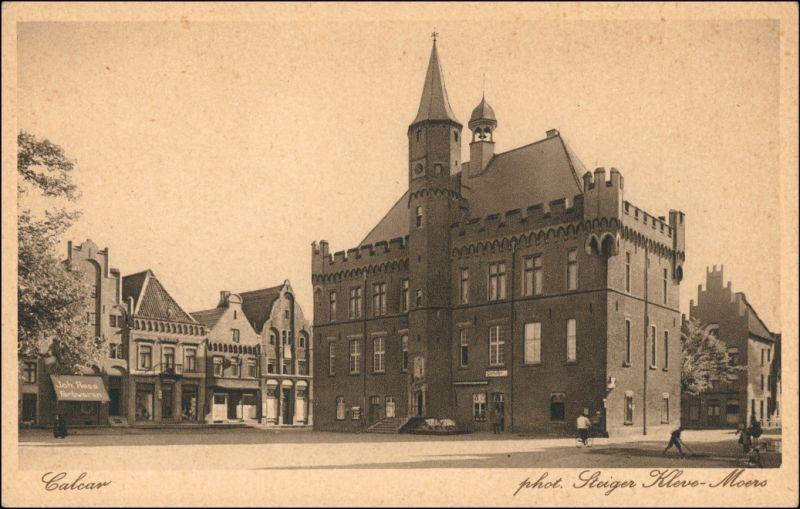 Ansichtskarte Kalkar Calcar Marktplatz - Geschäfte 1926