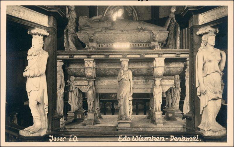 Foto Jever Edo Wiemken Denkmal 1923 Privatfoto