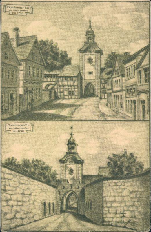Ansichtskarte Zerbst 2 Bild Dornburger Tor 1916
