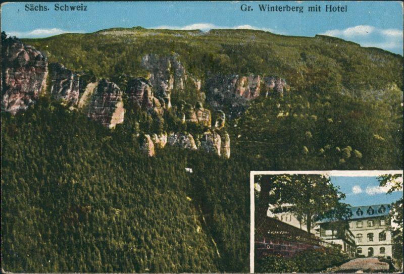 Ansichtskarte Schmilka Großer Winterberg 2 Bild Wirtschaft 1922