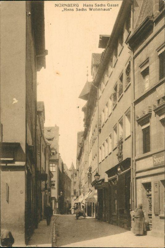 Ansichtskarte Nürnberg Hans Sachs Gasse 1913