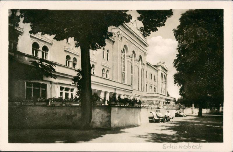 Ansichtskarte Bad Salzelmen-Schönebeck (Elbe) Kurhaus 1953