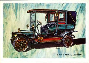 Ansichtskarte  NSU Landaulet anno 1907, Auto Oldtimer 1990