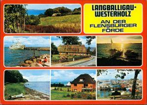 Langballig Mehrbild-AK Langballigau-Westerholz Flensburger Förde 1972