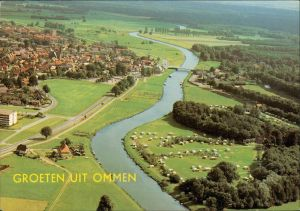 Postkaart Ommen Luftbild des Ortes 1981