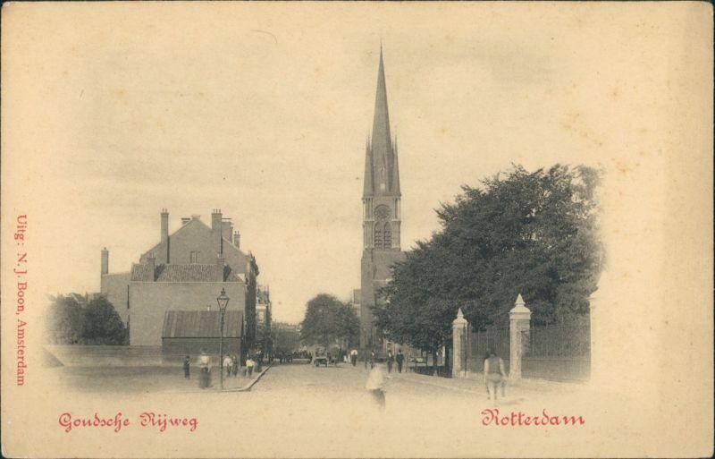 Postkaart Rotterdam Rotterdam Gondsche Rijweg 1909