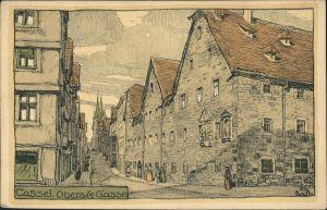 Ansichtskarte Kassel Cassel Obere Gasse - Steindruck 1923