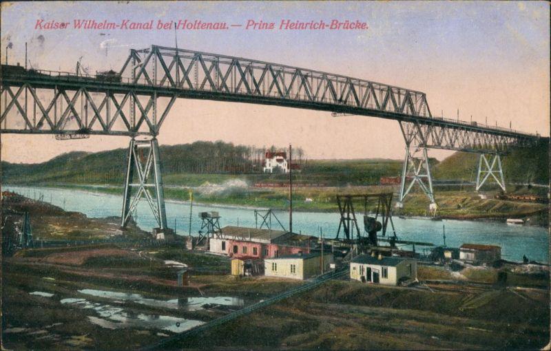 Kiel-Holtenau Kaiser-Wilhelm-Kanal und Prinz-Heinrich-Brücke 1913 0