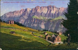 Flums Kurhäuser Alpina Region Flums mit Gamperdon, Tannenboden 1910