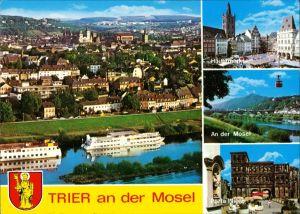 Ansichtskarte Trier 4 Echtfotos Stadtteilansichten Mehrbild-AK 1990