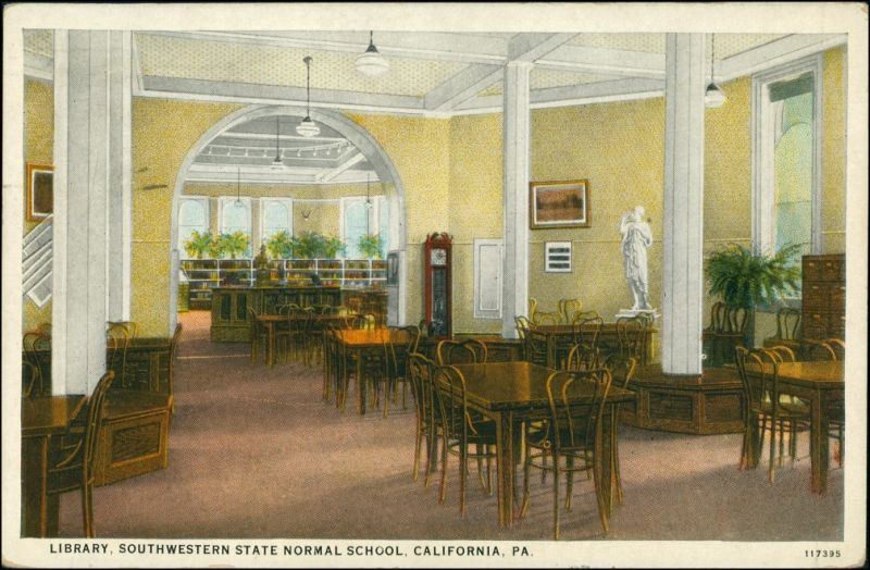 California (PA) Innenansicht Library State Normal School California PA 1929