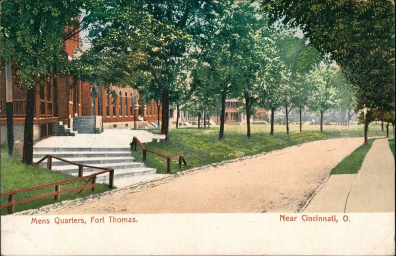 Postcard Cincinnati (Ohio) Mens Quarters Fort Thomas 1912