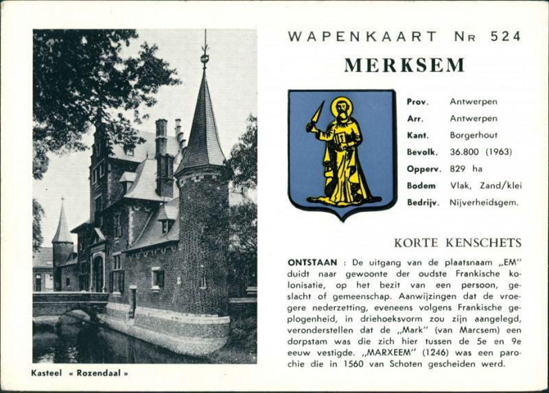 Postkaart Rozendaal Kasteel, Wapenkaart #524 1980