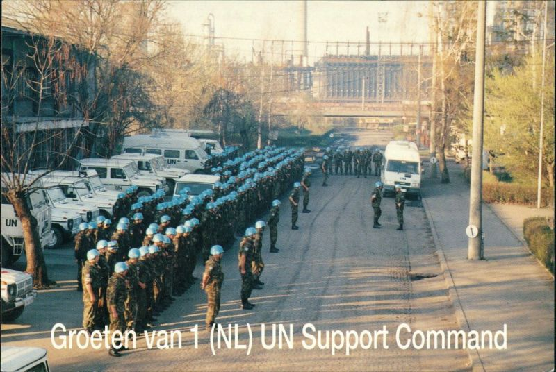 Postcard Lukavac Лукавац 1 NL UN Support Command 1992