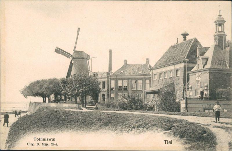 Postkaart Tiel Sttraße und Windmühle 1907