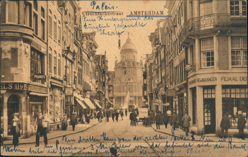 Postkaart Amsterdam Amsterdam Utrechtschestraat 1916
