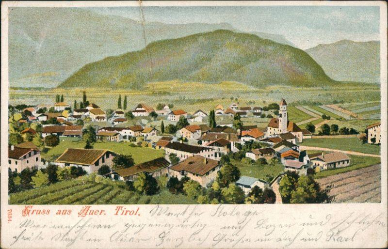 Ansichtskarte Auer (Gemeinde Matrei in Osttirol) Partie am Ort 1898