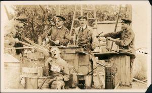 Menschen / Soziales Leben - Arbeiter Scherzkarte 1922 Privatfoto