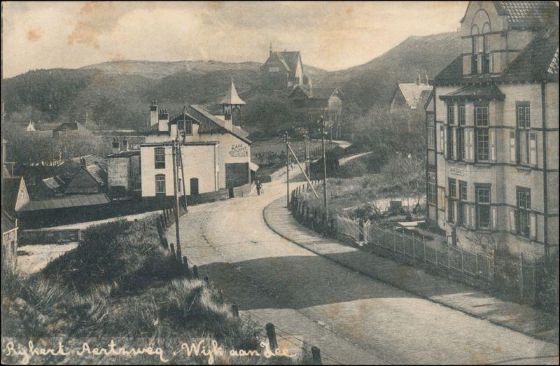Postkaart Wijk aan Zee Straßenpartie Cafe 1917