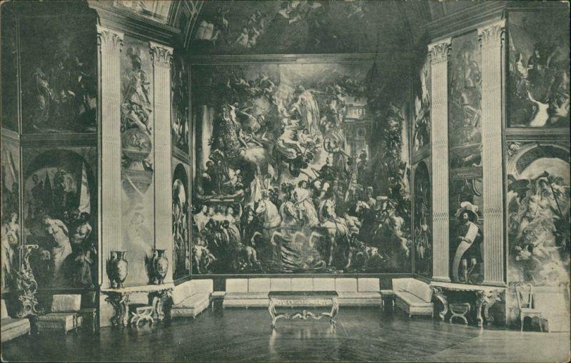 Postkaart Den Haag Den Haag Huis ten Bosch Wandgemälde Innenansicht 1910