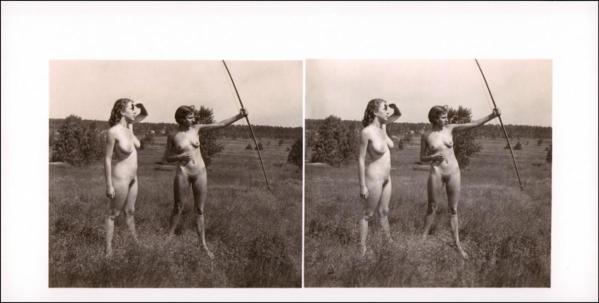 Erotik (Nackt - Nude) nackt Nude Stereo Bogenschießen 1999 REPRO