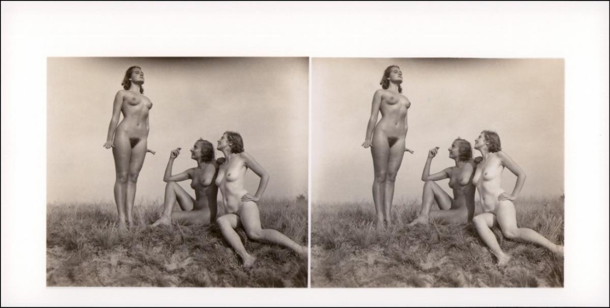 Erotik (Nackt - Nude) 3 Frauen nackt Nude Stereo Andacht 1999 REPRO