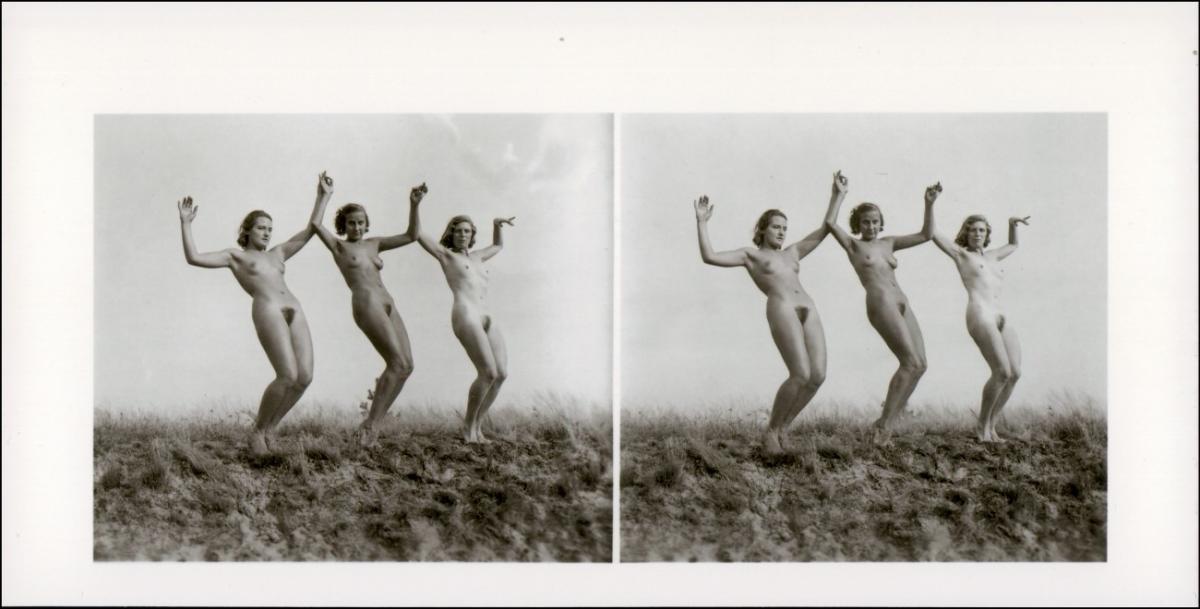 Menschen / Soziales Leben - Erotik (Nackt - Nude)drei Frauen nackt Nude Stereo 1999 REPRO