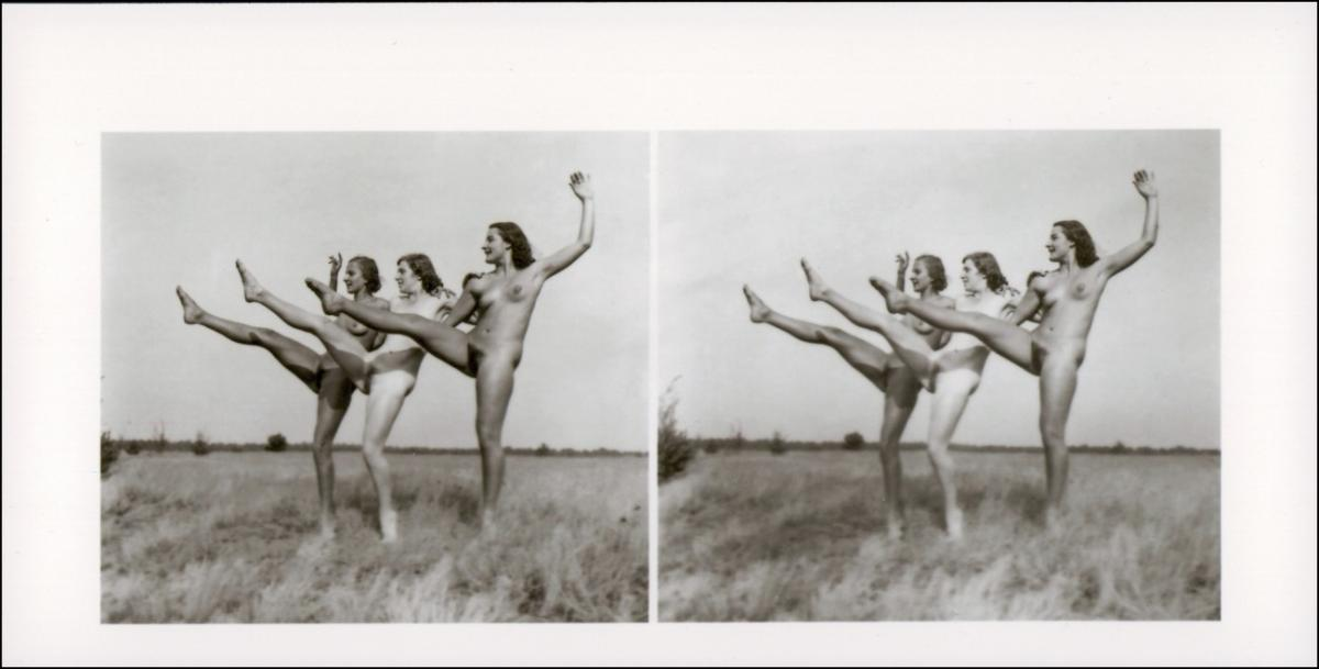 Erotik (Nackt - Nude) nackt Nude Stereo tanz drei Frauen 1999 REPRO