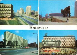Kattowitz Katowice Ulica Armii Czerwonej, Pomnik Powstańców 1985