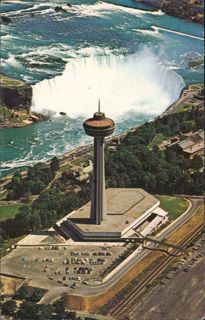 Niagara Falls (Ontario) Luftbild Skylon Niagarafälle / Niagara Falls 1965 0