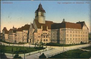 Ansichtskarte Südvorstadt-Dresden Münchner Platz Kgl. Landgericht 1916