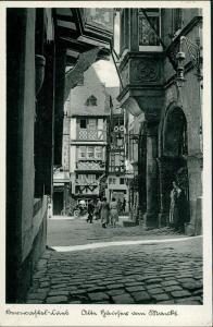 Bernkastel-Kues Berncastel-Cues Kopfsteinpflaster  Personen 1936