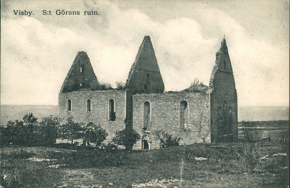Postcard Wisby Visby St. Görans Ruin Kirchen Ruine Sweden Postcard 1910