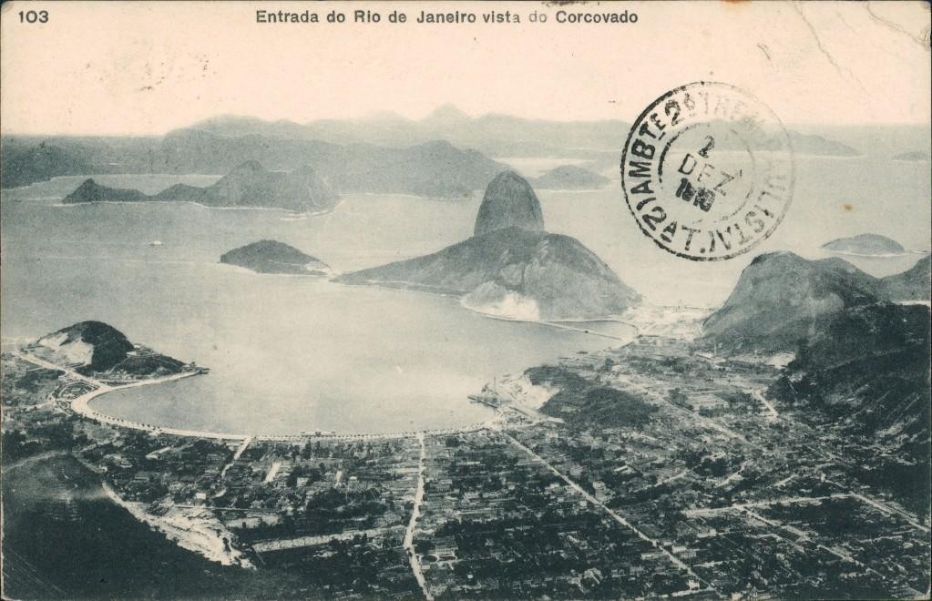 Postcard Rio de Janeiro vista do Corcovado 1910