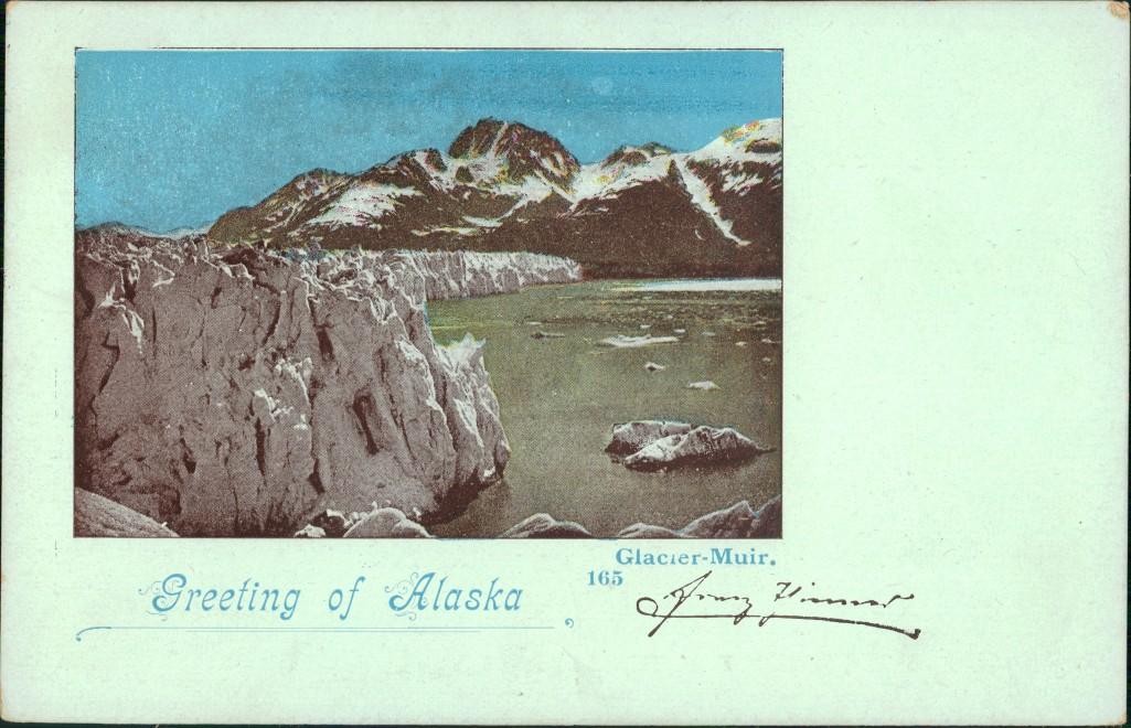 Postcard Alaska Alaska USA Glacier Muir 1906