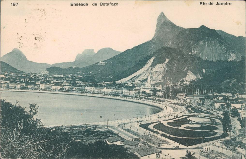 Postcard Rio de Janeiro Enseada de Botafogo 1910