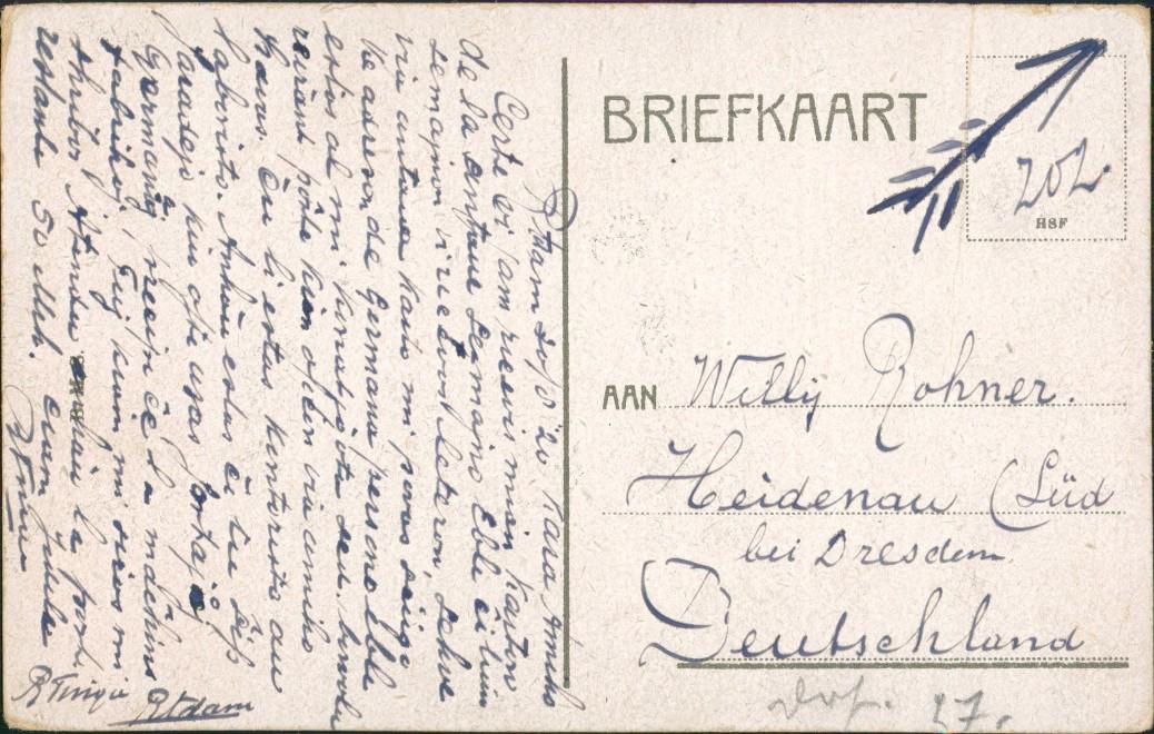 Postkaart Rotterdam Rotterdam Windmühlen Molen Goudsche Singel 1920 1