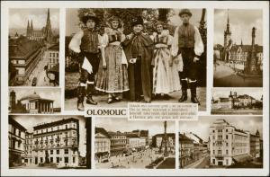 Postcard Olmütz Olomouc MB Straßen, Trachten 1934